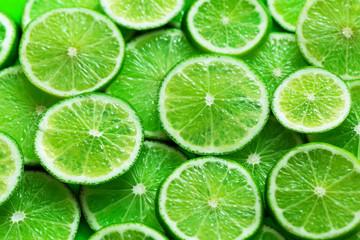 Citrus fruits slices texture background