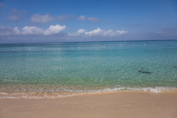 Beach, Sand and Water of West Bay, Roatan, Honduras