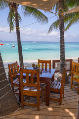 Chair and Table on the Beach