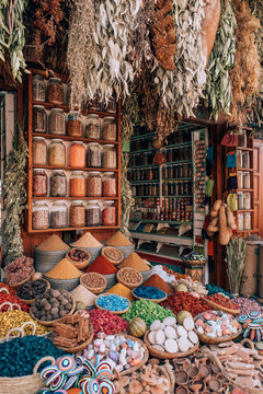 Colorful Spices in Marrakech, Morocco