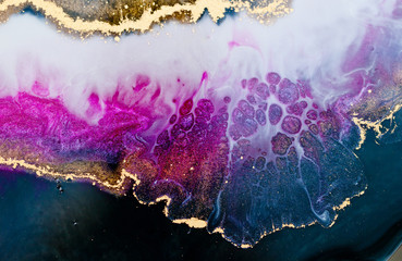 Epoxy resin art. Abstract composition for your design. Macro photo