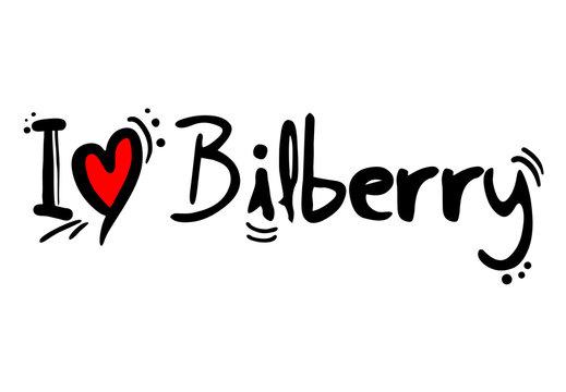 I love bilberry fruit love message