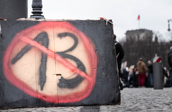 Demonstration über Artikel 13