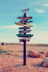 Wood Post Sign outside of Moab Utah
