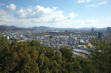 日本の岡山の風景