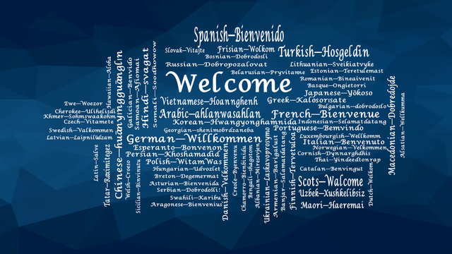 Welcome word cloud conceptual illustration