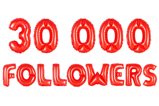 thirty thousand followers, red color