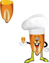 chicco granoturco simpatico con cappello cuoco