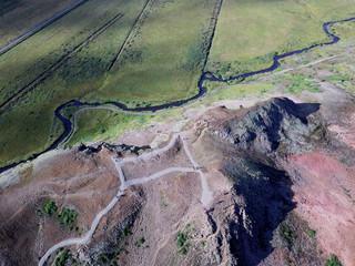 Island - Gletscher, Straßen, Geysir, Flüsse und Vulkankrater aus der Luft mit Drohne DJI Mavic 2