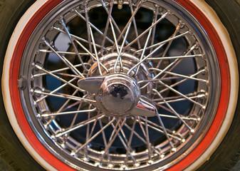 Vintage wheel of car Wall mural