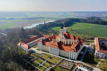 Kloster Roggenburg von oben Wall mural