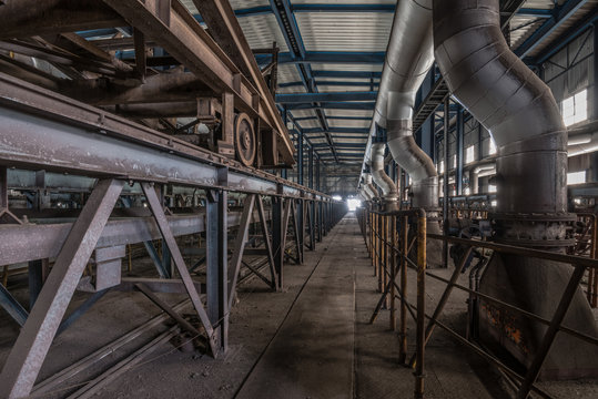 abandoned old industrial steel factory