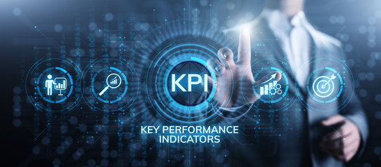 KPI Key performance indicator business and industrial analysis concept on screen. Fototapete
