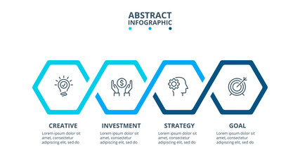 Vector infographic design template. Business concept with 4 options, parts, steps or processes.