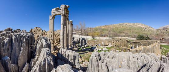 Faqra roman ruins near Feraya, Lebanon