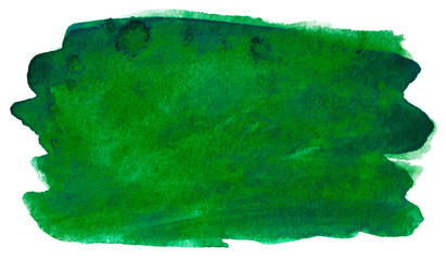 inked watercolor stain green Wall mural
