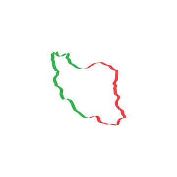 iran map icon vector symbol element