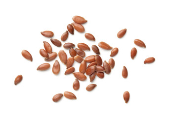 Linseeds Isolated On White Background