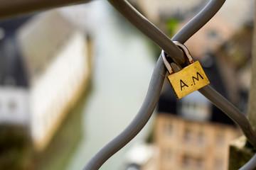 padlock on fence