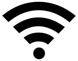 wifi or wi-fi wireless flat icon isolated