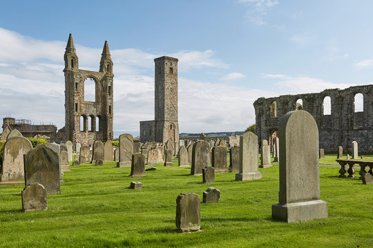 St. Andrews Cathedral in St. Andrews, Scotland.
