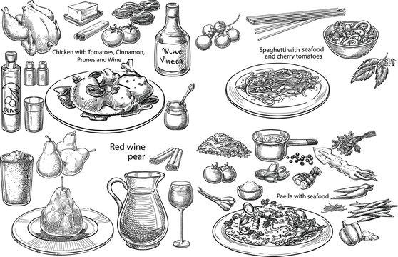 Mediterranean dishes.