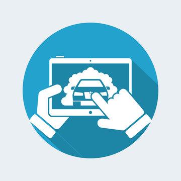 Application for car emissions on tablet