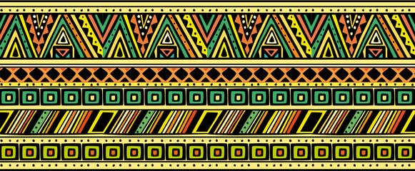 Bright horizontal ethnic pattern