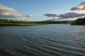 Landscape of the peninsula of Yamal.