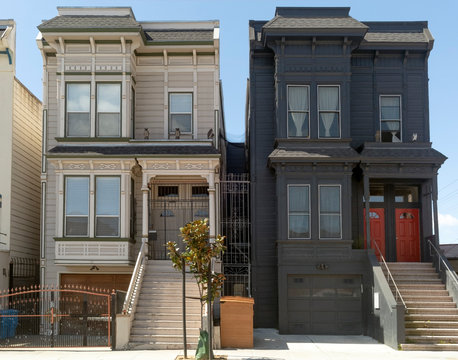Restored San Francisco Victorian homes and apartments.