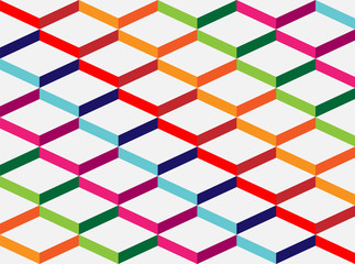 Abstract geometric colorful background, the simulation volume