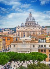 Fototapeta Rome city Vatican skyline view obraz
