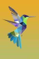 colibri en vol en origam