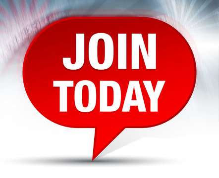 Join Today Red Bubble Background