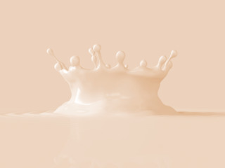 3d abstract background, liquid macro texture, splashing crown, pastel color fluid, splash