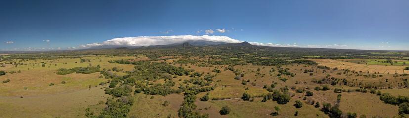 Costa Rica landscapes - beautiful nature, view to Rincon de la Vieja and Santa Maria Volcano