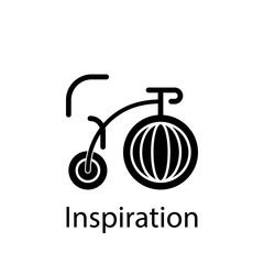 big, bike, dream, inspiration icon. Element of Peace and humanrights icon. Premium quality graphic design icon. Signs and symbols collection icon for websites