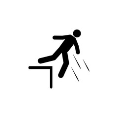 Man, stair, fall,  icon. Element of man fall down. Premium quality graphic design icon. Signs and symbols collection icon for websites, web design, mobile app
