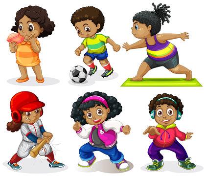 Set of african kids