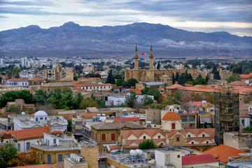 Panoramic view of Nicosia, Cyprus. View on North Cyprus.