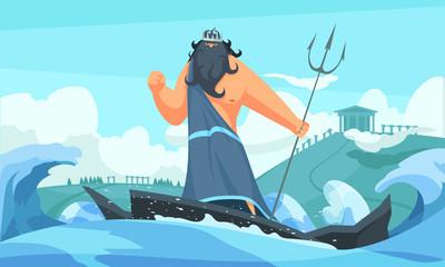 Ancient God Poseidon
