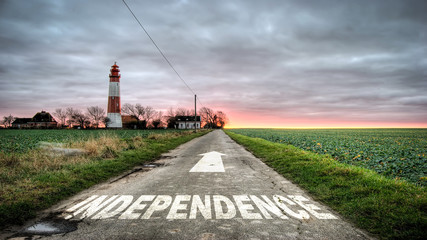 Sign 392 - Independence