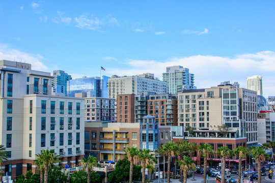 San Diego - Historic district Gaslamp Quarter, California state, USA