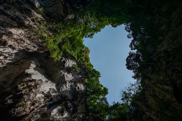 View to the top of Batu Caves at Kuala Lumpur