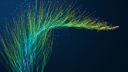 Abstract fiber optics background.