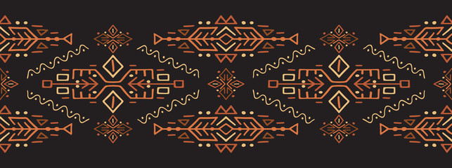 African Ethnic Style Vector Stripe Ornament