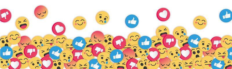 Modern emoji design on white background. Social Network emoticons illustration vector..