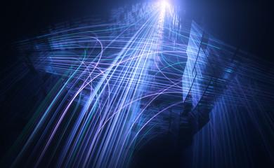 Datenverkehr | Ströme in komplexem Netzwerk - Version 1 Wall mural