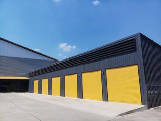 exterior of warehouse Wall mural