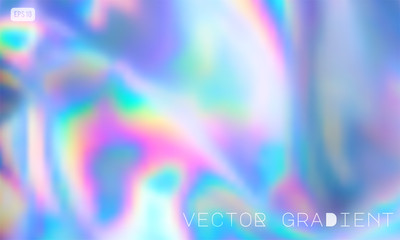 Wall Mural - Abstract Modern pastel colored holographic vector gradient background in 80s style. Synthwave. Vaporwave style. Retrowave, retro futurism, webpunk
